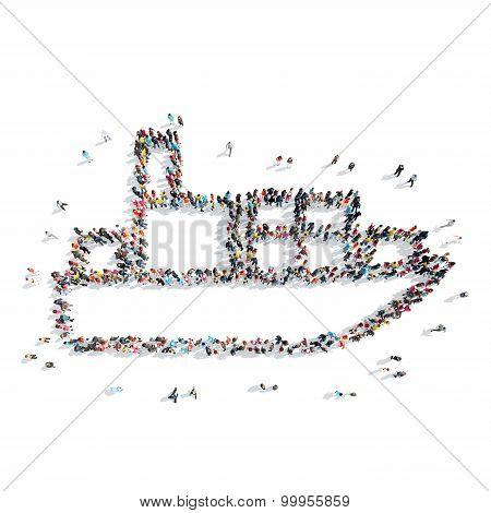 people  shape  tanker cartoon