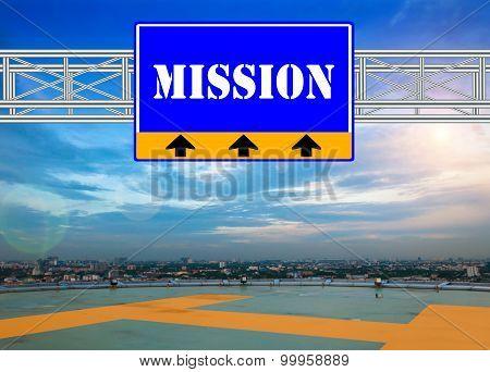 Blue Route Sign Concept