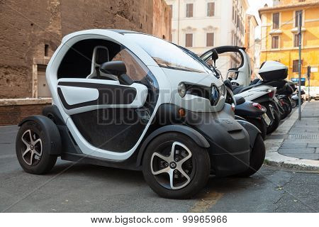 Renault Z.e. All-electric Car Stands Parked