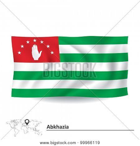 Flag of Abkhazia - vector illustration