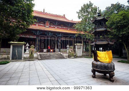 Lushan Temple At Yuelu Mountain, Changsha, China