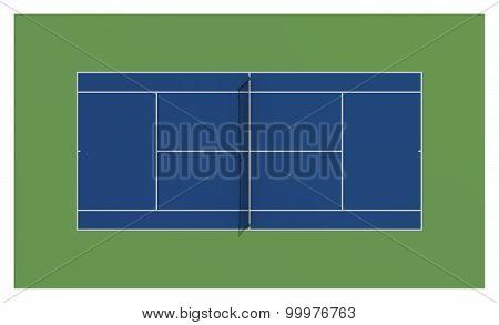 Tennis Court. Us Open Tennis