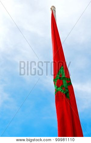 Tunisia  Waving Flag In The Blue Sky  Wave