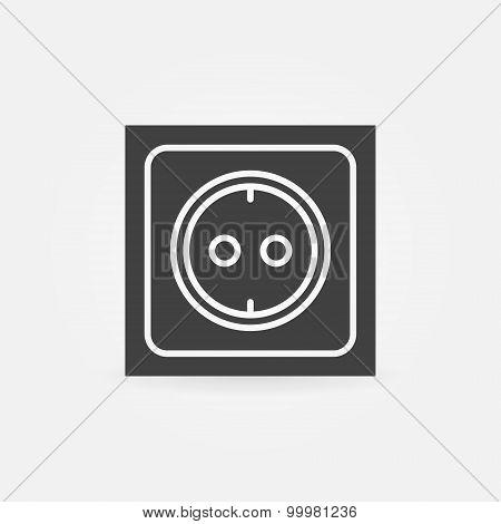 Electric socket icon or logo