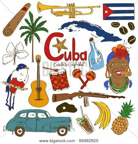Collection Of Cuban Icons.