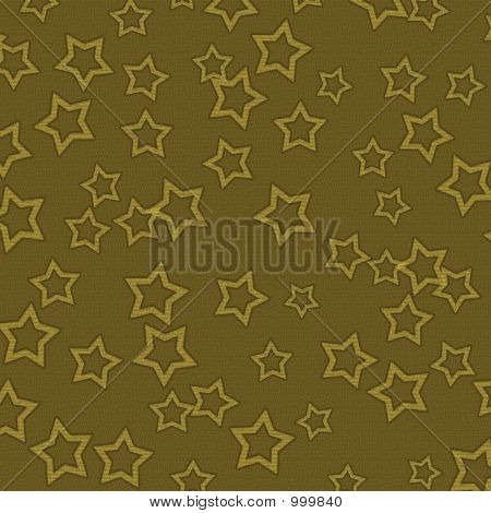 Yellow Brown Textured Background With Gold Stars