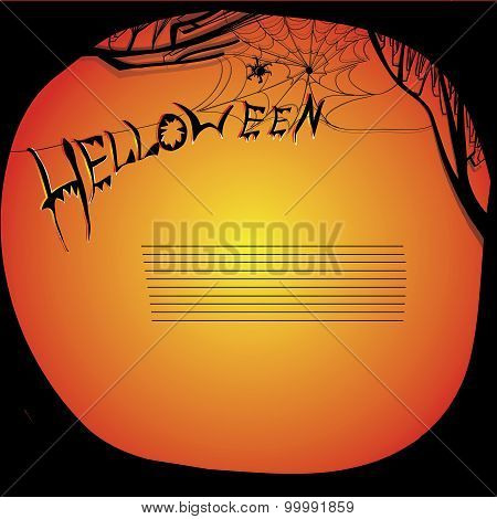 illustration of helloween board