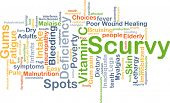 Background concept wordcloud illustration of scurvy poster