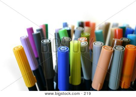 Colorful marking pens, various diversity poster