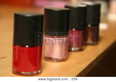 Row Of Nail Polish