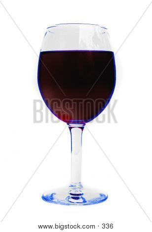 Blue tinted wineglass, 1400 px across, 300 dpi - glass has slight blue edged tint poster