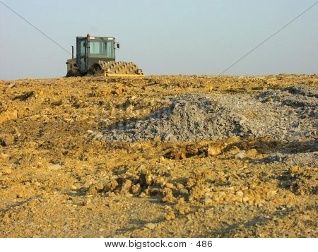 building place bulldozer earth mover poster