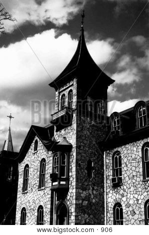 Prominent Black & White Church