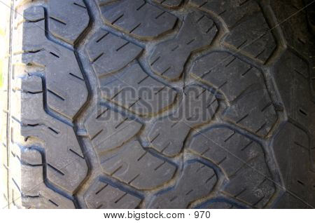 Close Up Tire Treads