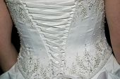Laces on back of wedding dress, 2000 px across, 180 dpi poster