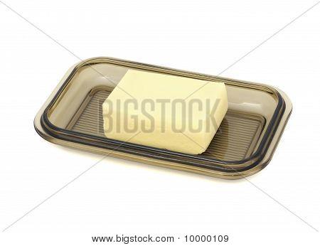 Boter op glas Butterdish