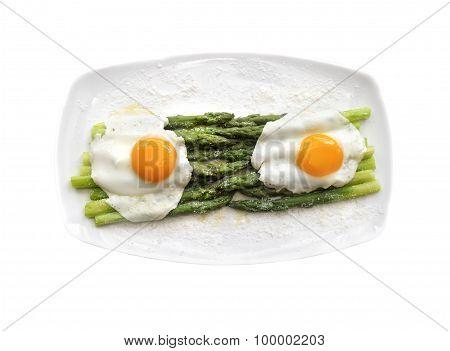 Fried Eggs With Asparagus