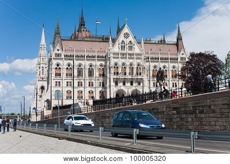 Budapest's quay at the Hungarian Pairlaiment