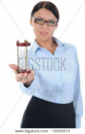 Retrato de una joven empresaria.