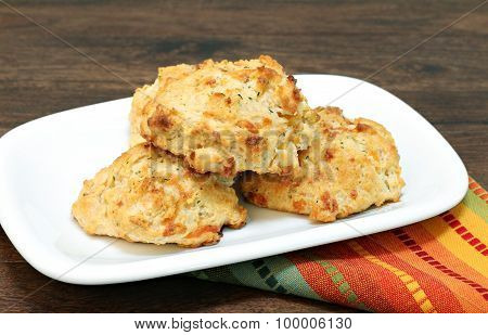 Cheddar Cheese, Parsley And Garlic Biscuits.