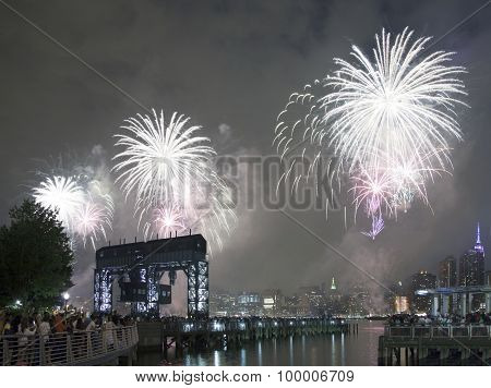 Macy's Fireworks Celebration In New York City