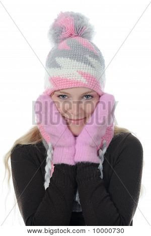 Vrouw In Winter stijl