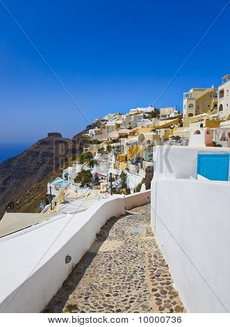 Vista de Santorini - Grecia