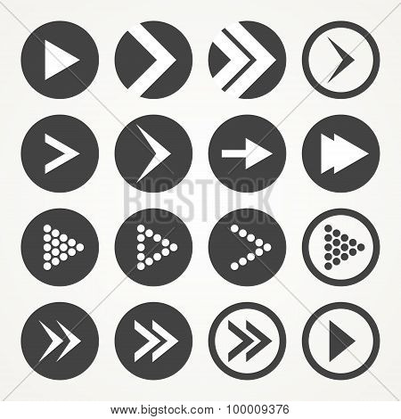 Arrow sign icon set. Vector