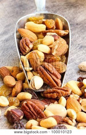 Mixed nuts healthy food