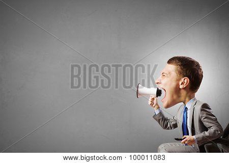 Man with big head