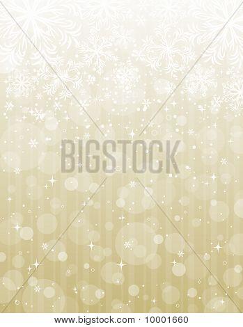 Golden Christmas Background, Vector