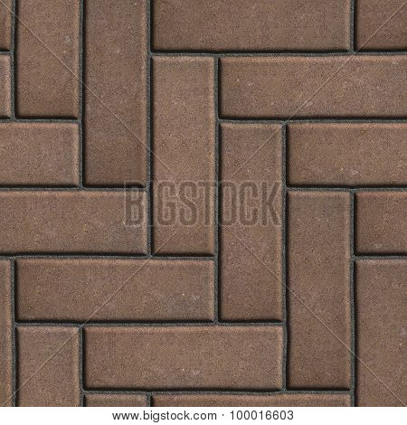 Brown Paving Slabs as Parquet.