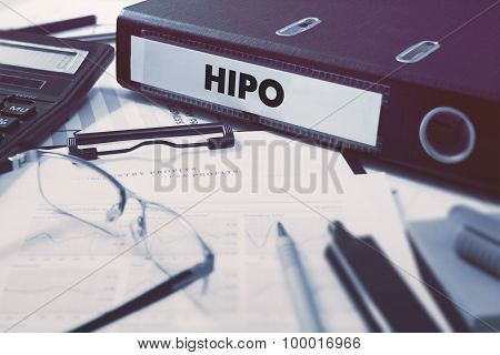 Ring Binder with inscription HiPo.