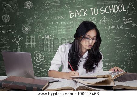 Learner Back To School And Studying In The Class