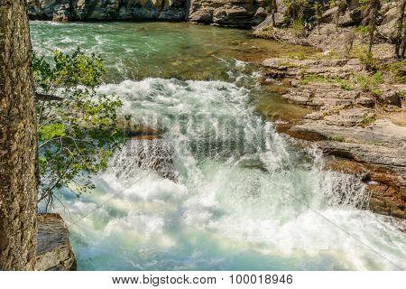 Fragment of Five Lakes trail in Jasper, Alberta, Canada.