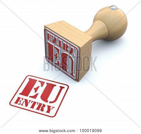 Rubber stamp-EU ENTRY