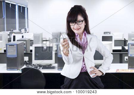 Pretty Woman Giving A Key 2