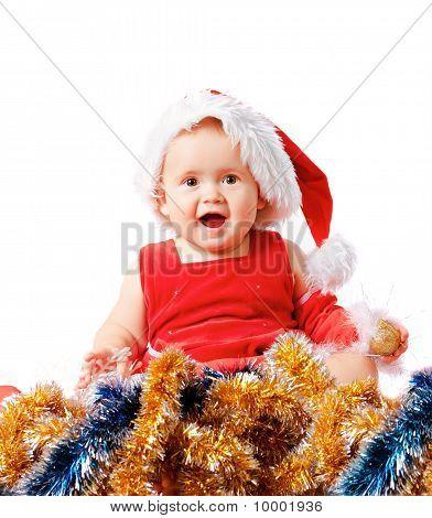 Baby In Santa Claus Hat