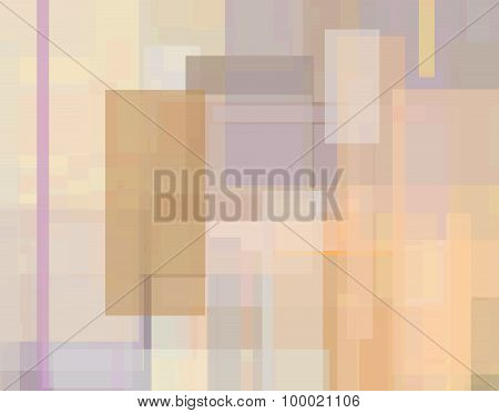 Abstract Geometrical Background In Brown, Orange And Violet