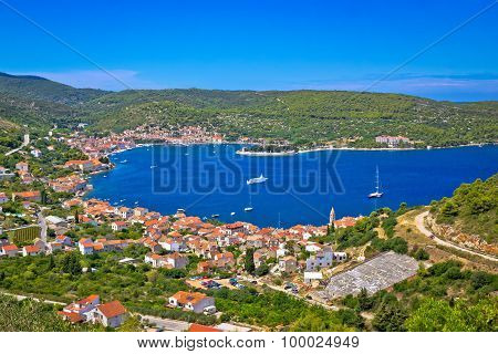 Island Of Vis Bay Aerial View