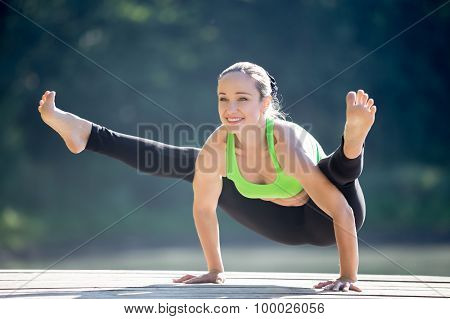 Young Woman Enjoying Yoga Practice