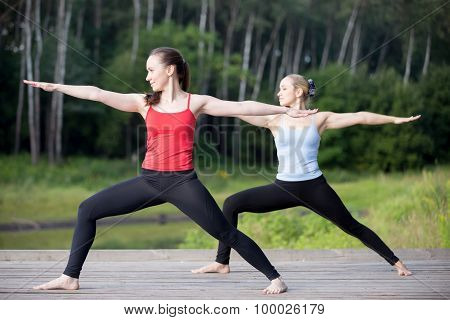 Yoga Class: Virabhadrasana 2 Pose