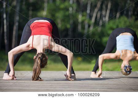 Yoga Class: Straddle Forward Bend