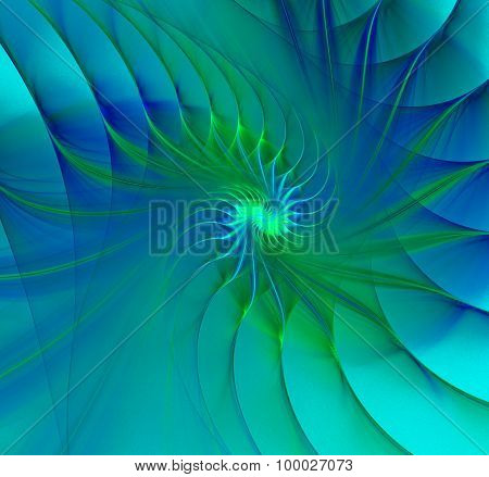 Shell Abstract Fractal Background