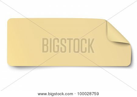 Rectangular Yellow Oblong Paper Sticker Note