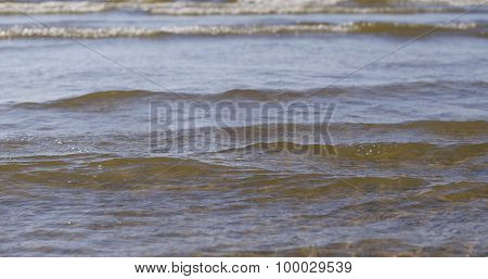 baltic sea coast with waves
