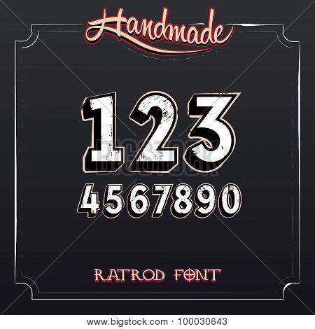 Retro Vintage Label Numbers