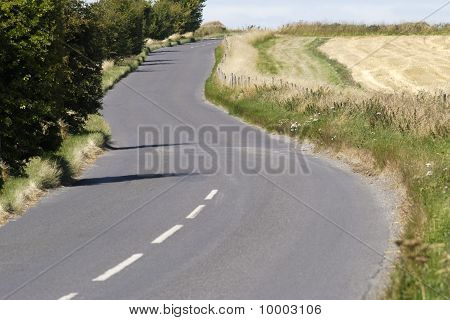 Country Road Near Avebury. UK