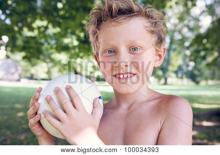 Playing Boy With Ball