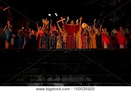 The Final Scene Of The Performance Of King Mithridates